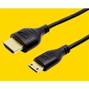 ミヨシ HDC-MN10/BK HDMIミニケーブル スリム 1.0m ブラック
