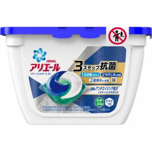 ピーアンドジー(P&G) アリエール 洗濯洗剤 パワージェルボール 3D 本体 (18個入)