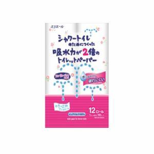 大王製紙 「エリエール」シャワートイレのためにつくった吸水力が2倍のトイレットペーパー フラワープリント香水付き 12ロール