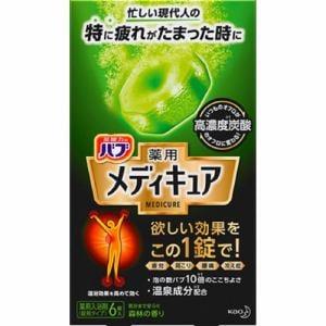花王(Kao) バブ 薬用 メディキュア 森林の香り (70g×6錠) 【医薬部外品】