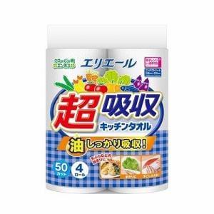 大王製紙 エリエール超吸収キッチンタオル50C 4R