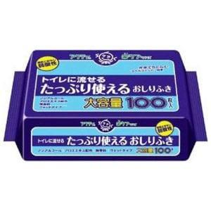 日本製紙クレシア アクティトイレに流せるたっぷり使えるおしりふき 100枚