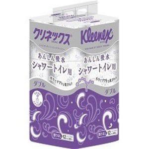 日本製紙クレシア クリネックス シャワートイレ用 ダブル 12ロール