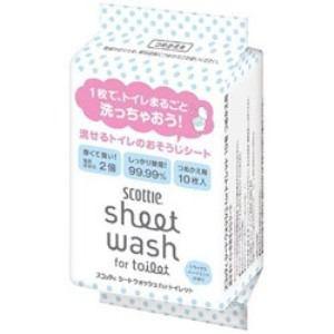 日本製紙クレシア スコッティ シートウォッシュ for トイレット詰替 10枚