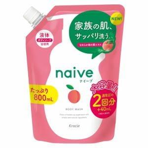 クラシエHP ナイーブ ボディソープ桃の葉エキス配合詰替800 ナイーブ