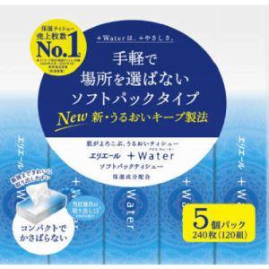 大王製紙 エリエール +Water ソフトパック 120組×5個