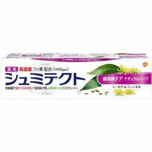 アース製薬 薬用シュミテクト 歯周病ケア ナチュラルハーブ ユーカリ&フェンネル 1450PPM 90g