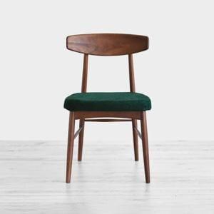 大塚家具 椅子「ユノA」ウォールナット材 カバーリングタイプ グリーン