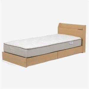 IDC OTSUKA  ベッドフレーム 「エリート2」 薄宮付き ダークブラウン色 セミダブルサイズ