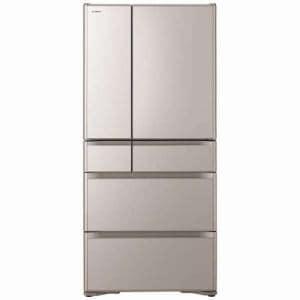 日立 R-XG5100H-XN 6ドア冷蔵庫 「真空チルドXGシリーズ」 (505L・フレンチドア) クリスタルシャンパン
