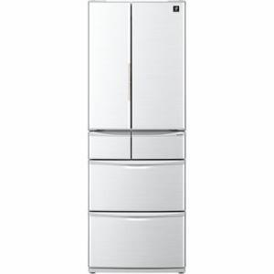 シャープ SJ-P461D-H 6ドア冷蔵庫 (455L・フレンチドア) グレー系