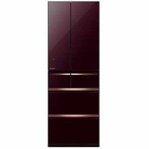 三菱 MR-WX52C-BR  6ドア冷蔵庫 「置けるスマート大容量 WXシリーズ」 (517L・フレンチドア) クリスタルブラウン