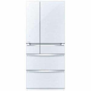 三菱 MR-WX70C-W 6ドア冷蔵庫 「WXシリーズ」 (700L・フレンチドア) クリスタルホワイト