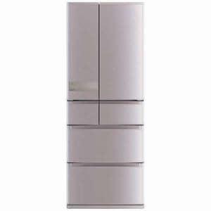 三菱 MR-JX60C-N 6ドア冷蔵庫 「置けるスマート大容量 JXシリーズ」 (600L・フレンチドア) ローズゴールド