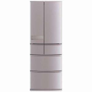三菱 MR-JX52C-N 6ドア冷蔵庫 「置けるスマート大容量 JXシリーズ」 (517L・フレンチドア) ローズゴールド