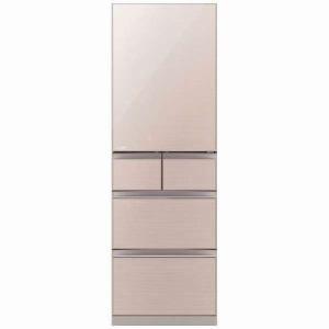 三菱 MR-B46C-F 5ドア冷蔵庫 「置けるスマート大容量 Bシリーズ」 (455L・右開き) クリスタルフローラル