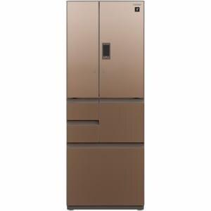 シャープ SJ-GX55D-T 6ドア冷蔵庫 (551L・フレンチドア) 「GXシリーズ」 グラデーションブラウン