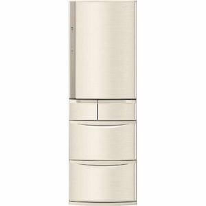 パナソニック NR-E413V-N 5ドア冷蔵庫 (406L・右開き) 「Vタイプ」 シャンパン