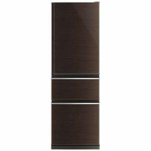 三菱 MR-CX37C-BR 3ドア冷蔵庫(365L・右開き) グロッシーブラウン