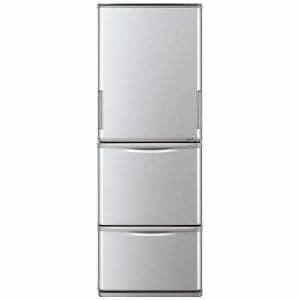 シャープ SJ-W351D-S 3ドア冷蔵庫 (350L・どっちもドア) シルバー