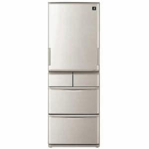 シャープ SJ-W412D-S プラズマクラスター搭載 5ドア冷蔵庫(412L・どっちもドア) シルバー系