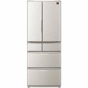 シャープ SJF461EN 6ドア冷蔵庫(455L・フレンチドア) シャンパンゴールド