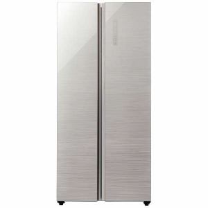 AQUA AQR-SBS45H(S) 2ドア冷蔵庫 「PANORAMA OPEN(パノラマオープン)」(449L・両開き) ヘアラインシルバー