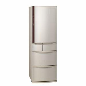 パナソニック NR-E414VL-N 5ドア冷蔵庫(406L・左開き) シャンパン