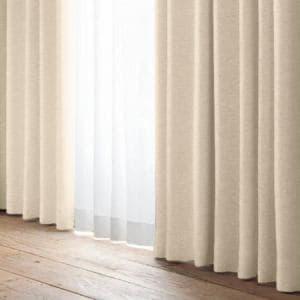 [100×200]YDDスタッフ 花粉キャッチ 裏地付きカーテン 2枚入 ベージュ