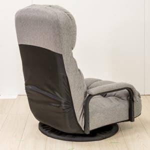 [1人掛]ハイバック回転フロア座椅子 グレー ヤマダオリジナル