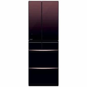 三菱 MR-MX46E-ZT 6ドア冷蔵庫(455L・フレンチドア) MXシリーズ グラデーションブラウン