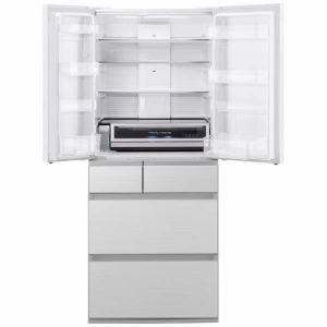 パナソニック NR-F655WPX-W 6ドア冷蔵庫 (650L・フレンチドア) フロスティロイヤルホワイト