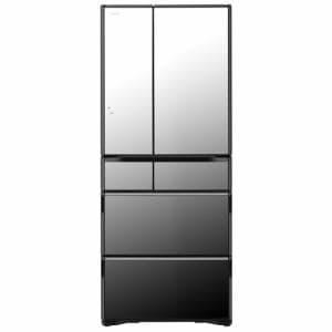 日立 R-WX62K-X 6ドア冷蔵庫(615L・フレンチドア) クリスタルミラー