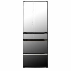 日立 R-KX57K-X 6ドア冷蔵庫(567L・フレンチドア) クリスタルミラー