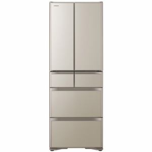 日立 R-XG43K-XN 6ドア冷蔵庫(430L・フレンチドア) プレーンシャンパン