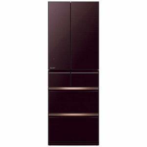 三菱 MR-WX47E-BR 6ドア冷蔵庫(470L・フレンチドア) クリスタルブラウン