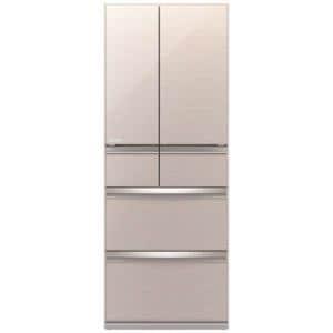 三菱 MR-WX47LE-F 6ドア冷蔵庫(470L・フレンチドア) クリスタルフローラル