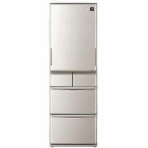 シャープ SJ-W412E-S 5ドア冷蔵庫(412L・どっちもドア) シルバー系