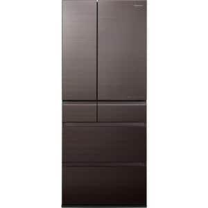 パナソニック NR-F655HPX-T 6ドア冷蔵庫(650L・フレンチドア) アルベロダークブラウン