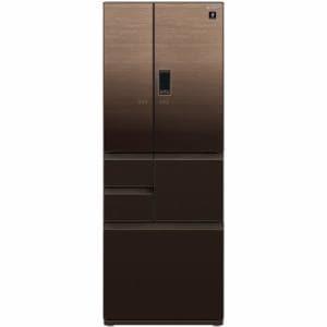 シャープ SJ-AF50F-T 6ドア プラズマクラスター冷蔵庫 (502L・フレンチドア) グラデーションウッドブラウン