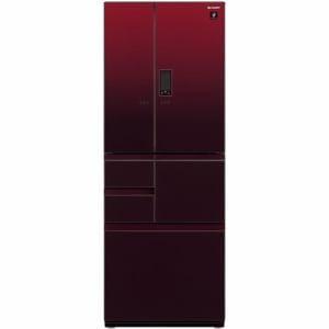 シャープ SJ-AF50F-R 6ドア プラズマクラスター冷蔵庫 (502L・フレンチドア) グラデーションレッド