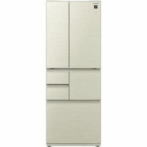 シャープ SJ-F501F-N 6ドア プラズマクラスター冷蔵庫 (502L・フレンチドア) シャンパンゴールド
