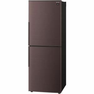 シャープ SJ-PD28F-T 2ドア冷蔵庫 (280L・右開き) ブラウン系