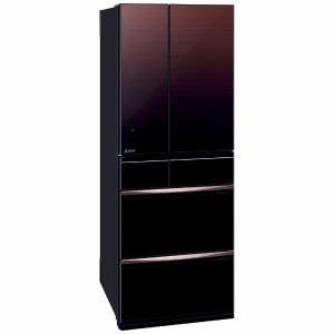 三菱 MR-MX57F-ZT 6ドア冷蔵庫 (572L・フレンチドア)MXシリーズ グラデーションブラウン