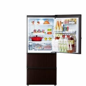 AQUA AQR-SV27J(T) 冷蔵庫 (272L・右開き) ダークウッドブラウン