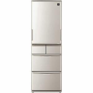 シャープ SJ-W412F-S 5ドアプラズマクラスター冷蔵庫 (412L・左右開き) シルバー系【沖縄・離島はお届けできません】