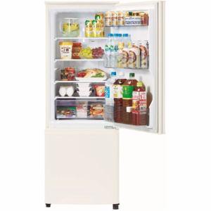 三菱 MRP17FW 2ドア冷蔵庫 (168L・右開き) マットホワイト