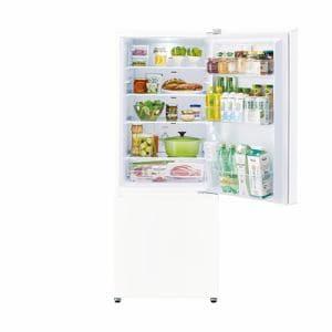 アクア AQR-20K(W) 2ドア冷蔵庫 (201L・右開き) ミルク