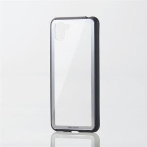 エレコム PM-AQR3HVCG6SV AQUOS R3用ハイブリッドケース/ガラス/フレーム シルバー