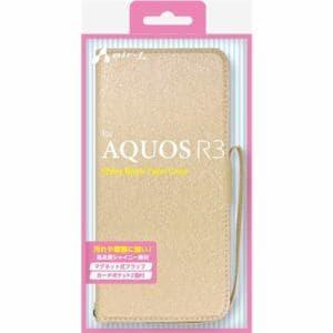 f0b547696a エアージェイ AC-AQR3 SHY BE AQUOS R3 シャイニー手帳型ケース ベージュ ...